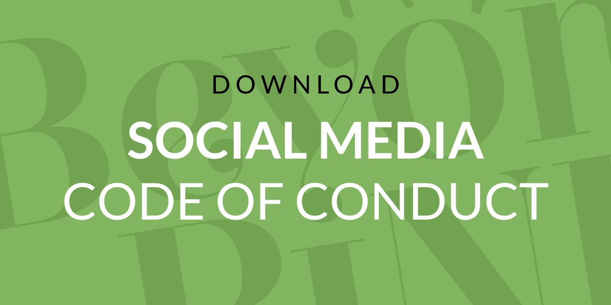 SOCIAL MEDIA CODE OF CONDUCT@2x